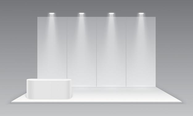 Stand fieristici in bianco di mostra