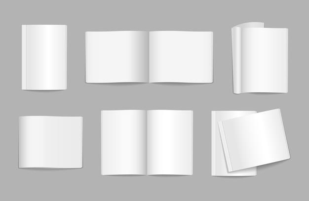 Illustrazione di copertina di una rivista volante in bianco