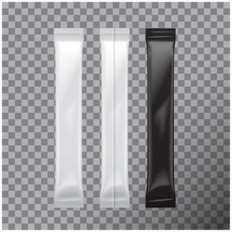 Set di buste in alluminio bianco per imballaggio per alimenti, zucchero, sale, pepe, condimento, confezione in plastica