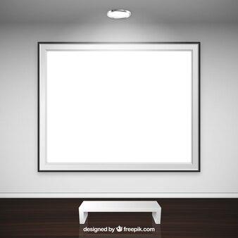 Fotogramma vuoto in galleria d'arte Vettore Premium