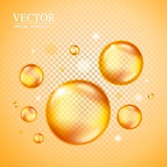 Bolle dorate vuote, possono essere utilizzate come elementi ed effetti speciali