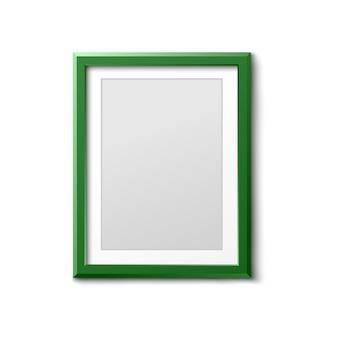 Cornice per foto verde in bianco - bordo vuoto di rettangolo