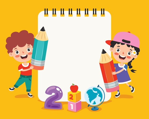 Documenti di nota in bianco per l'istruzione dei bambini
