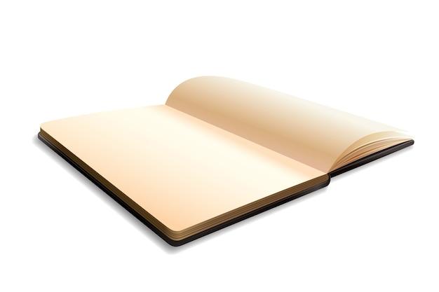 Quaderno bianco aperto