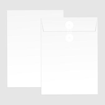Buste di carta bianca per il tuo design