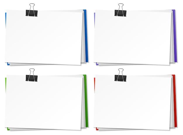 Documenti in bianco e modello di clip legante