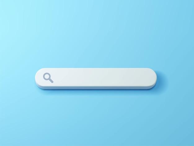 Barra di ricerca vuota su sfondo blu illustrazione 3d