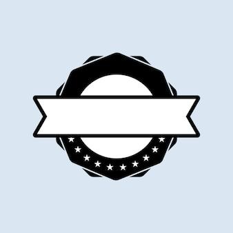 Set di francobolli in bianco. vettore. icona del distintivo vuoto. logo distintivo certificato. modello di timbro. etichetta, adesivo, icone. vettore env 10. isolato su priorità bassa bianca.