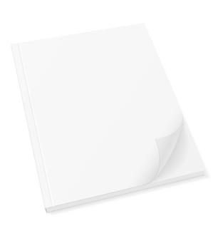 Copertina in bianco del modello della rivista dell'opuscolo dell'opuscolo del libro su bianco