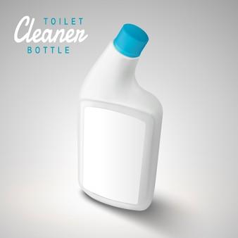 Illustrazione in bianco della bottiglia del detergente per wc