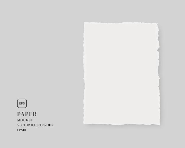 Carta strappata bianca. modello di carta isolato