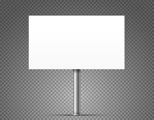 Banner pubblicitario urbano in bianco