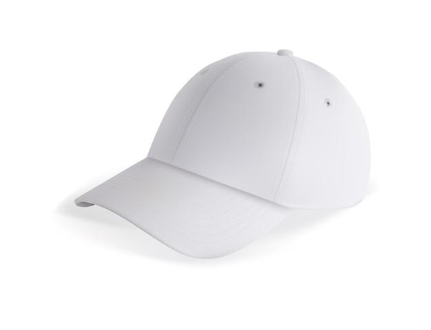 Modello di berretto da baseball bianco vuoto per il marchio isolato