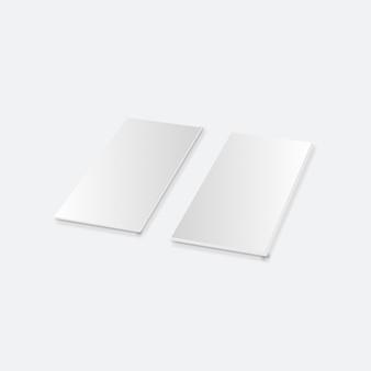 Flayer di carta pieghevole bianco vuoto
