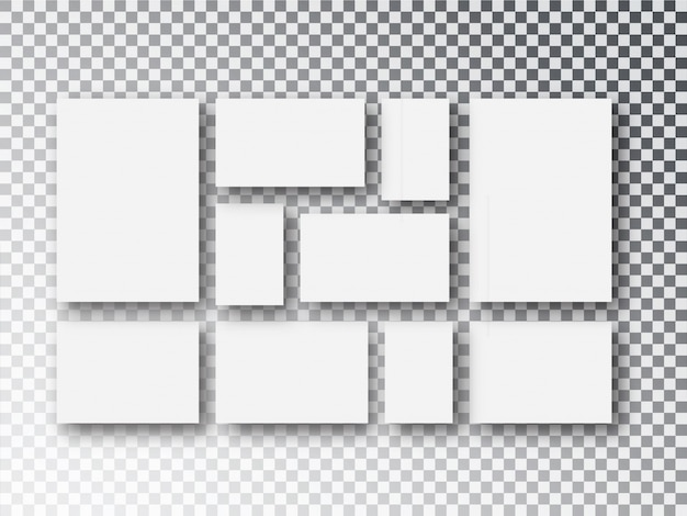Tela bianca vuota o cornici isolati su trasparente