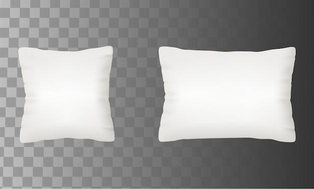 Illustrazione bianca stabilita di vettore di derisione in bianco del cuscino