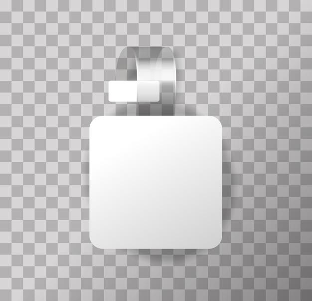 Wobbler rotondo bianco vuoto su sfondo trasparente