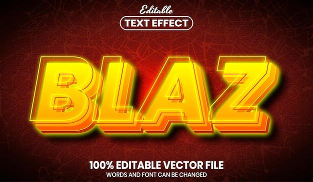 Testo blaz, effetto testo modificabile in stile carattere