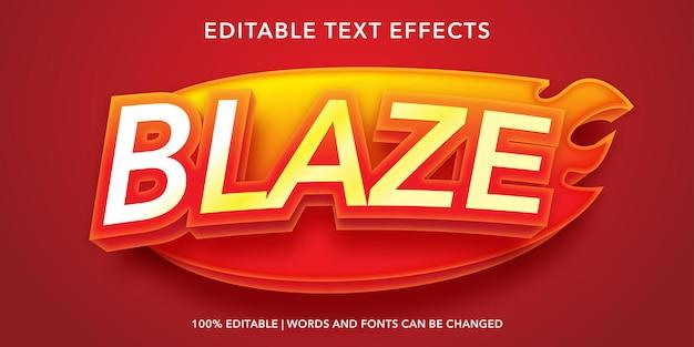 Effetto testo modificabile blaze