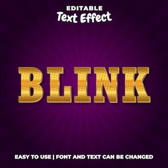 Blink - stile effetto testo modificabile in metallo dorato