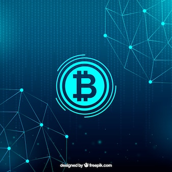 Sfondo blockchain Vettore Premium