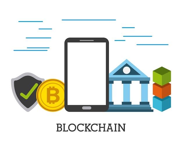 Blockchain mobile bank bitcoin protezione di sicurezza