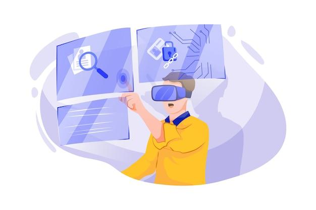 Ricerca della piattaforma blockchain nella realtà virtuale