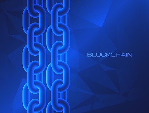 Concetto di tecnologia blockchain criptovaluta dei dati del database della catena di blocchi