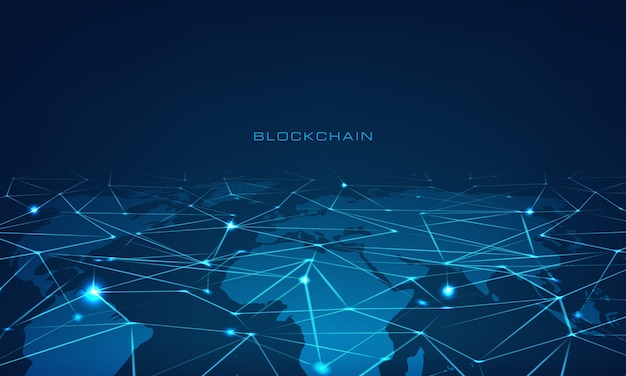Illustrazione della tecnologia blockchain
