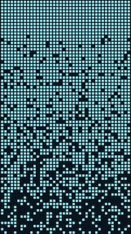 Blocchi di blu che cadono. sembra un deframmentatore di dischi o un gioco di tetris. vettore eps 10.