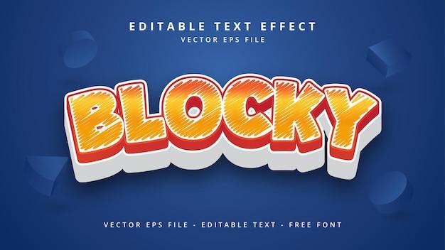 Effetto stile testo vettoriale 3d modificabile a blocchi stile testo illustrator modificabile