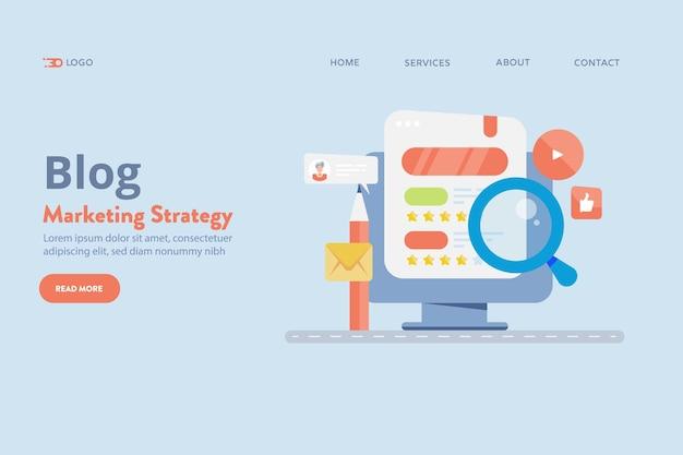 Priorità bassa di vettore di strategia di marketing del blog