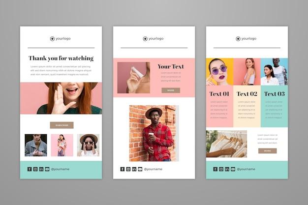 Set di modelli di email di blogger
