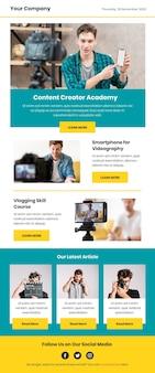 Modello di email di blogger con foto