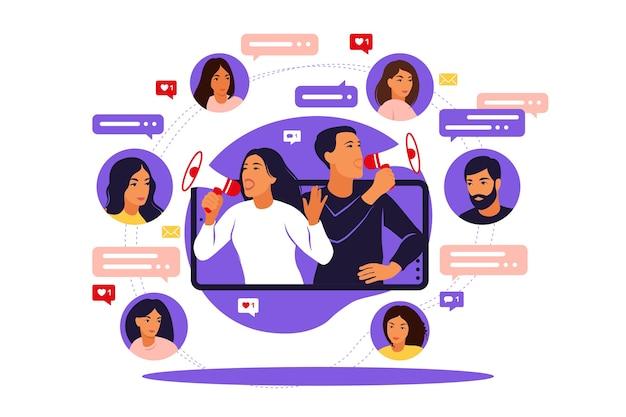 Servizi di promozione di blogger e beni per i suoi follower online