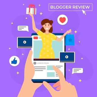 Progetto di recensione di blogger