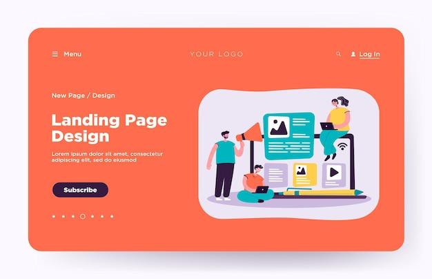 Blogger e influencer scrivono articoli e pubblicano landing page di contenuti