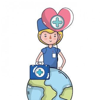 Cartoni animati della campagna di donazione di sangue