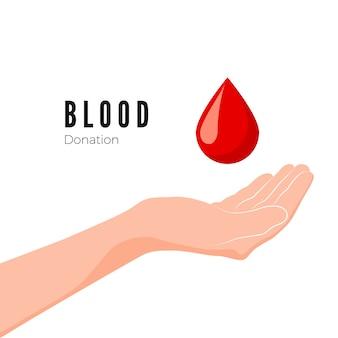 Illustrazione di concetto di donazione di sangue