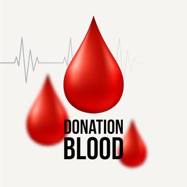 Donazione di sangue sfondo medico.
