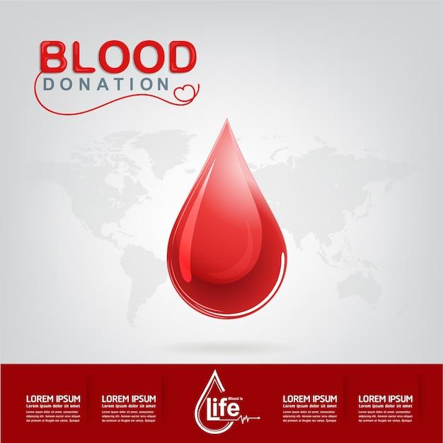 Concetto di donazione di sangue vettoriale - ospedale per ricominciare una nuova vita