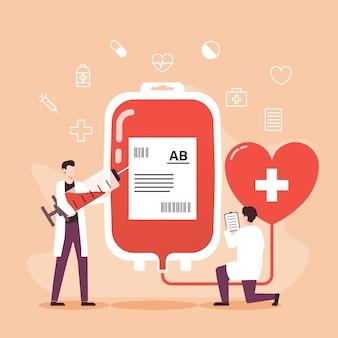 Illustrazione di concetto di donatore di sangue