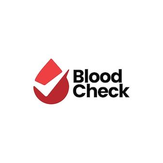 Modello di logo di controllo della goccia di sangue