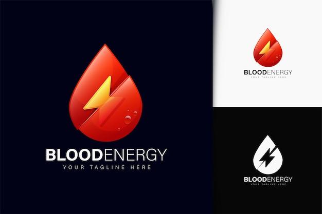 Design del logo dell'energia del sangue con gradiente