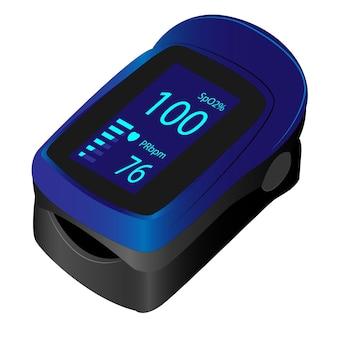 Monitor di saturazione di ossigeno nel sangue pulsossimetro portatile per uso domestico con clip da dito