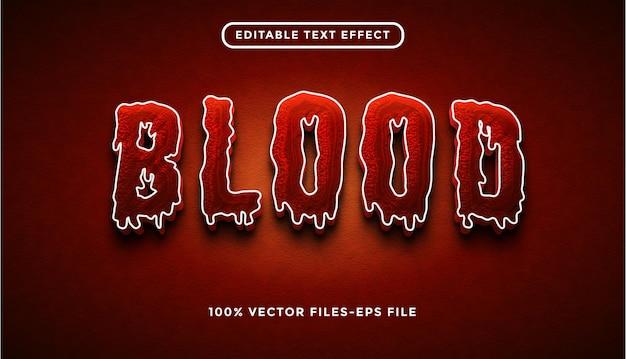Effetto del testo del sangue vettore premium