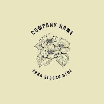 Logo del fiore di fioritura