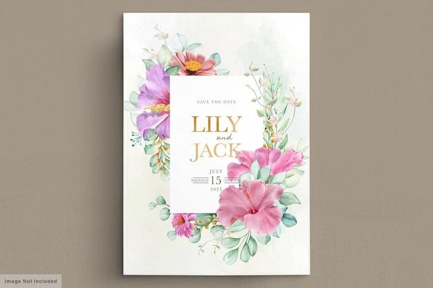 Carta cornice floreale in fiore