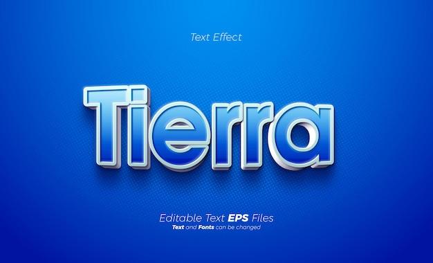 Elegante effetto testo 3d blu