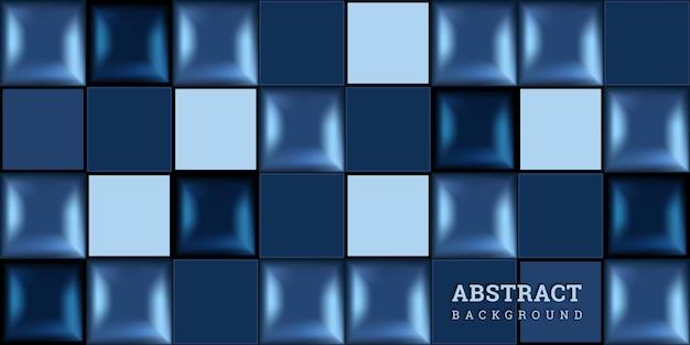 Sfondo astratto blu 3d con forme geometriche